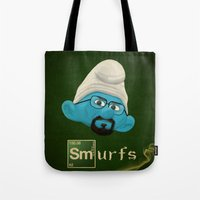 breaking bad Tote Bags featuring Breaking Bad  by gazonula
