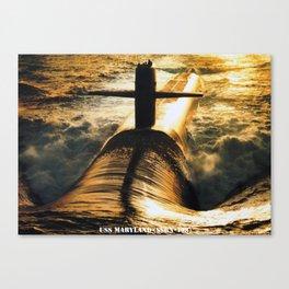 USS MARYLAND (SSBN-738) Canvas Print