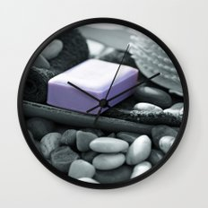 A fresh bath to relax Wall Clock