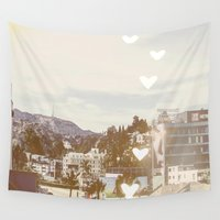 hollywood Wall Tapestries featuring Hollywood, Los Angeles, California by SoCal Chic Photography