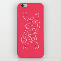 lettering iPhone & iPod Skins featuring Valentine lettering by janna barrett