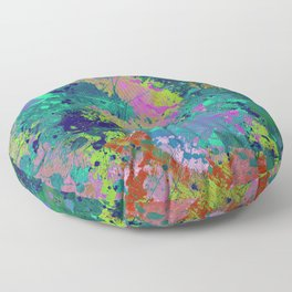 Messy Art I - Abstract, paint splatter painting, random, chaotic and messy artwork Floor Pillow