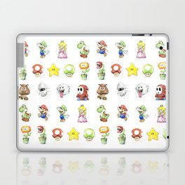 Mario Characters Watercolor Geek Gaming Videogame Laptop & iPad Skin