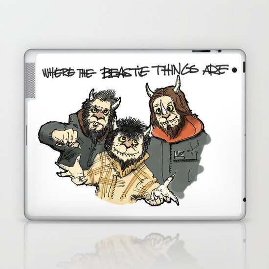 Where The Beastie Things Are Laptop & iPad Skin