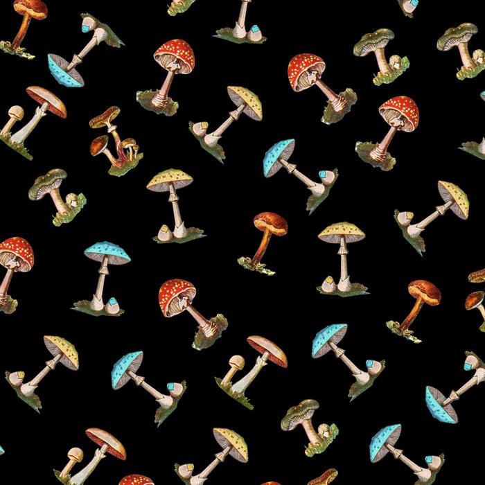 Electric Neon Mushrooms Leggings