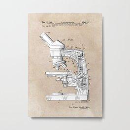 patent art microscope Metal Print
