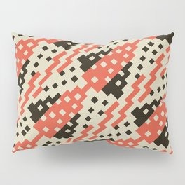 Chocktaw Geometric Square Cutout Pattern - Iron Oxide Pillow Sham