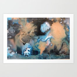 A Ghostly Moon Art Print