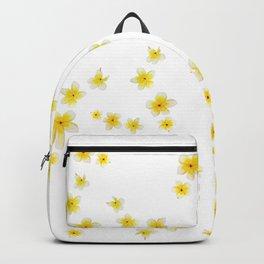 Common Frangipani watercolor Backpack