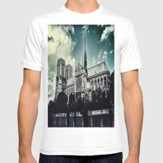 Notre Dame White MEDIUM Mens Fitted Tee