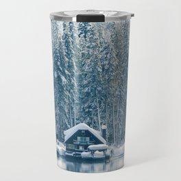 Winter's Cottage (Color) Travel Mug