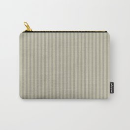 Grey olive stripes . Carry-All Pouch
