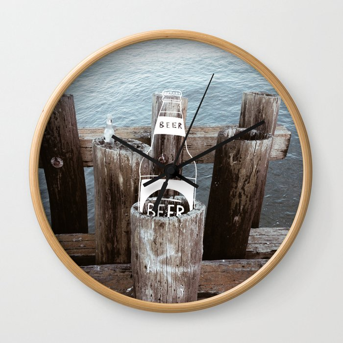 Crack a Cold One Wall Clock