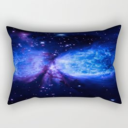 Space Galaxy : a star is born Midnight Blue Violet Rectangular Pillow