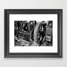 Novo Antique Gas Engine Framed Art Print