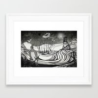 orphan black Framed Art Prints featuring Orphan Dream Land by Kam Redlawsk