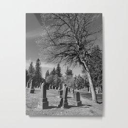 3 Tombstones Metal Print
