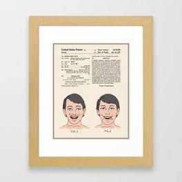 Vampire Teeth Patent - Colour Framed Art Print