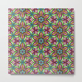 Kaleidoscope Spikey Flower design. Metal Print