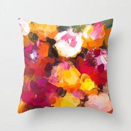 Delicious Floral Throw Pillow