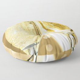 Two Sparkling Champagne Glasses Cheers Celebrating New Years Close Up Ultra HD Floor Pillow