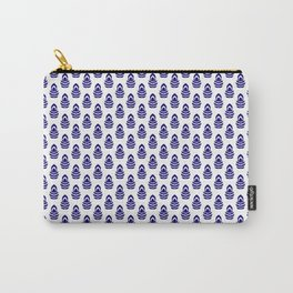 Indian Flowers Blockprint 1 (Dark Blue) Carry-All Pouch
