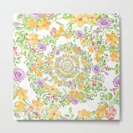 Floral Hypnosis Metal Print
