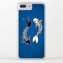 Koi Yin-Yang (V3) Clear iPhone Case
