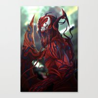 carnage Canvas Prints featuring Carnage by corverez