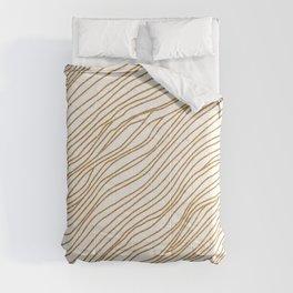 Metallic Wood Grain Comforters