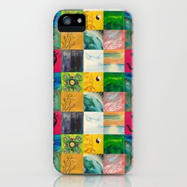 Buddha Patchwork Painting iPhone Case