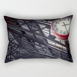 Red clock Rectangular Pillow