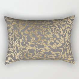 Faux gold foil abstract geometric on grey concrete cement Rectangular Pillow