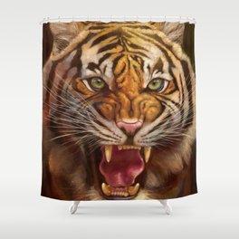 Roaring Tiger Shower Curtain