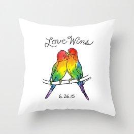 #LoveWins Birds Throw Pillow