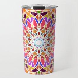 Rainbow sun mandala Travel Mug