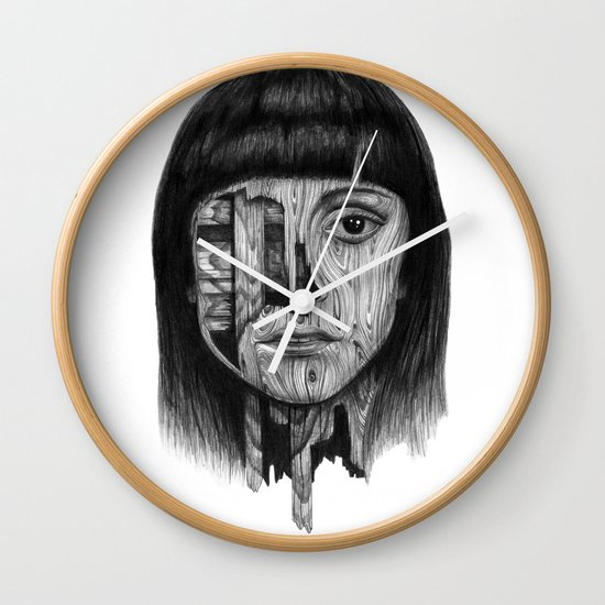 Wood Girl Wall Clock