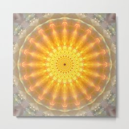 Gold Medallion Mandala Metal Print