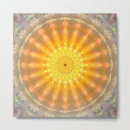 Gold Medallion Mandala Metal Print