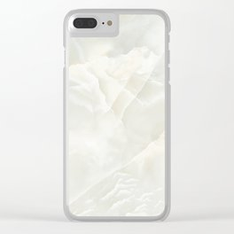 Cracked Crystal Marble Texture Clear iPhone Case