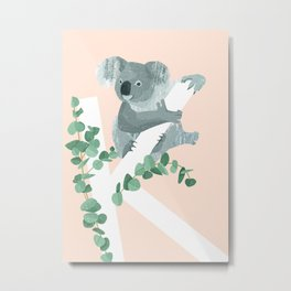 K - Koala Metal Print