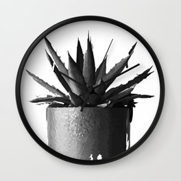 ''Nowhere Collection'' - Cacti Plant Print Wall Clock