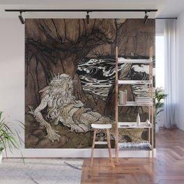 """A Crowned Merman"" by Arthur Rackham Wall Mural"