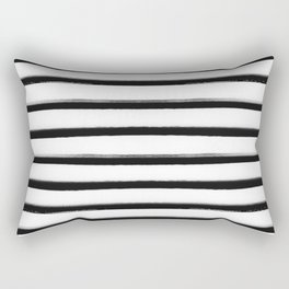 Stripes, Scandinavian, Minimal, Pattern, Modern art Rectangular Pillow