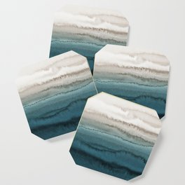 WITHIN THE TIDES - CRASHING WAVES TEAL Coaster