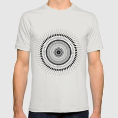 Mandala 01 X-LARGE Silver Mens Fitted Tee