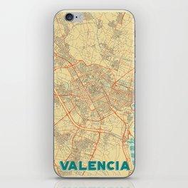 Valencia Map Retro iPhone Skin