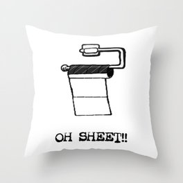 OH Sheet!! Throw Pillow