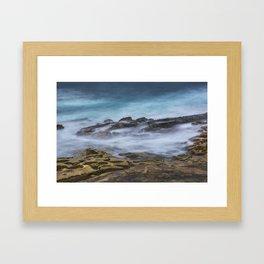 Misty Ocean Blur Framed Art Print