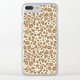 Leopard spots animal pattern print minimal basic home decor safari animals Clear iPhone Case